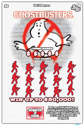 Ghostbusters lottery tickets