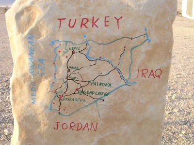 map at Bagdad Cafe