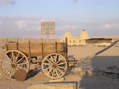 wagon at the Bagdad Cafe